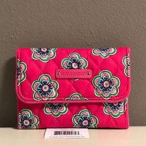 Vera Bradley Euro Wallet in Pink Swirls Flowers
